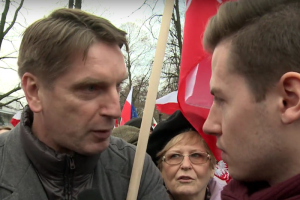 Tomasz Lis był uczestnikiem marszu w obronie demokracji