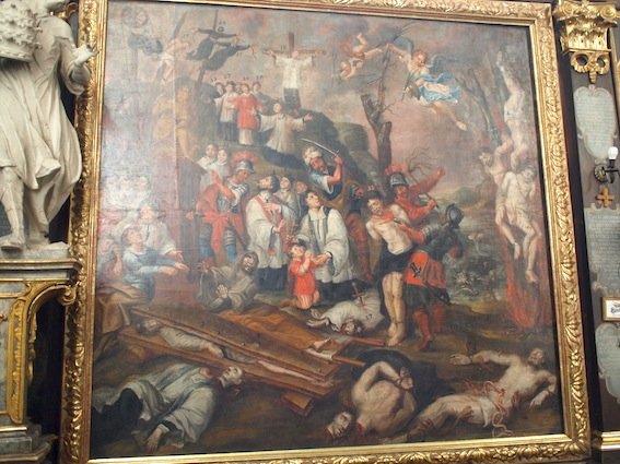 Makabryczne dzieła Karola de Prevot w sandomierskiej Katedrze.