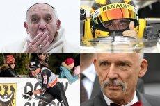 Robert Kubica, papież Franciszek, Justyna Kowalczyk i Janusz Korwin-Mikke nie muszą obawiać się wpadnięcia w internetowy ściek.