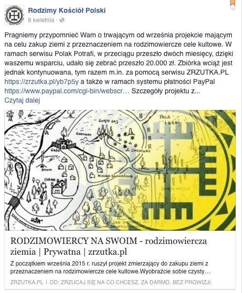 Polscy poganie marzą o Świętym Gaju. Dorzucisz się?