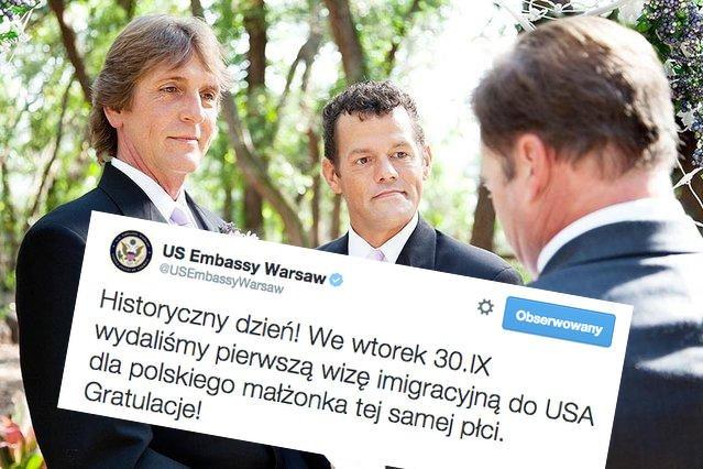 """Prawica atakuje ambasadę USA w Polsce za przyznanie wizy gejom. """"To co najmniej oburzające"""""""