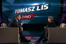 """Agnieszka Holland byłą gościem poniedziałkowego programu """"Tomasz Lis na żywo""""."""