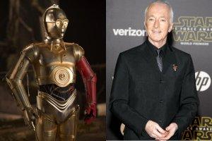 """Czy zastanawialiście się kiedyś, kogo kryje złota osłona robota C-3PO z """"Gwiezdnych Wojen""""?"""