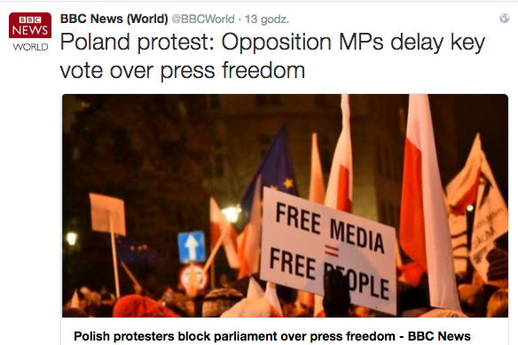 Zagraniczne media uważnie śledzą to, co od wczoraj dzieje się w Sejmie i na polskich ulicach.