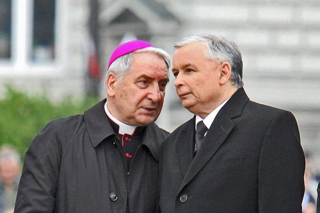 Abp. Józef Kowalczyk z prezesem PiS, Jarosławem Kaczyńskim.