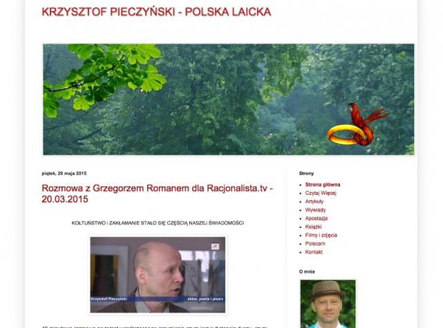 Blog Krzysztofa Pieczyńskiego działa od kilku dni