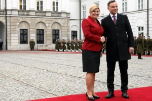 Styczeń 2016. Kolinda Grabar – Kitarovi, prezydent Republiki Chorwacji  z wizytą w Warszawie.
