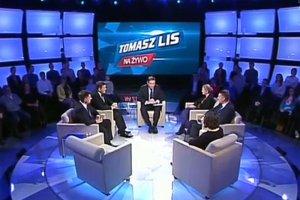 """Prawdziwą debatę przypominał w poniedziałek jedynie program """"Tomasz Lis na żywo""""."""