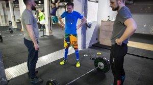 Z Łukaszem z CrossFit Elektromoc i Mariuszem - moim sędzią w Open 16.2