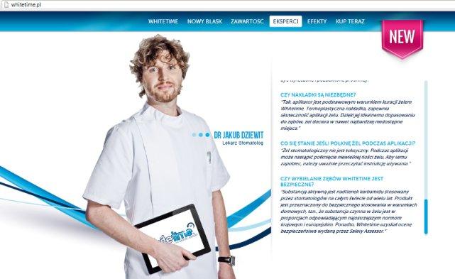 Wizerunek dr Jakuba Dziewita został wykorzystany na stronie whitetime.pl wbrew jego woli i bez jego zgody