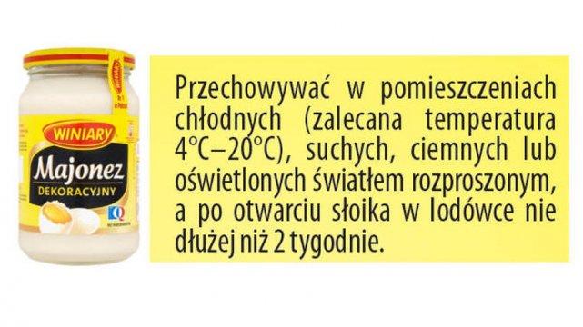 Sprawdź, kiedy należy chować produkt do lodówki.