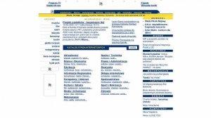 Interia.pl w 2000 roku. Głównie linki na białym tle