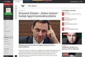 Krzysztof Ziemiec nie krytykuje Prawa i Sprawiedliwości - on sięo nie troszczy.