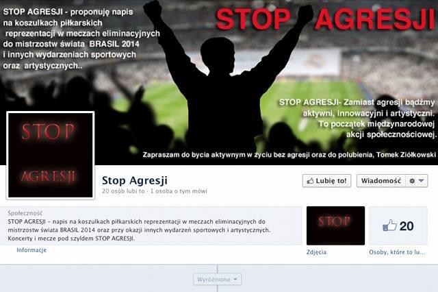 "Profil ""Stop Agresji"" na Facebooku"