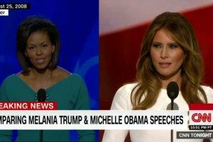Melania Trump splagiatowała przemówienie Michelle Obamy sprzed ośmiu lat.