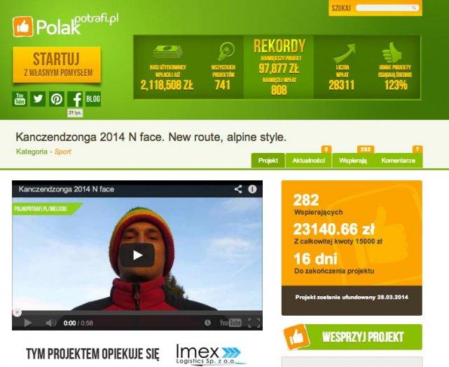 Adam Bielecki chce zebrać 30 tysięcy złotych na wyprawę