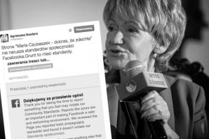 """Administratorzy Facebooka nie uznali za stosowne zablokować strony """"Maria Czubaszek - dobrze, że zdechła"""""""