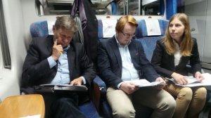 Od lewej: prof. Balcerowicz, Mateusz, Dominika