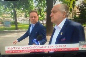 """Przeszli samych siebie! TVP Info na czerwonym pasku podała, że prezes TK nie wypowiedział się dla """"Wiadomości"""""""