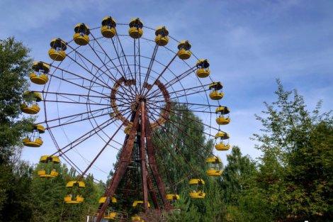Wesołe miasteczko w centrum Prypeci
