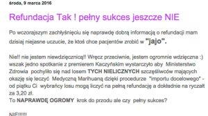 Dorota Gudaniec pisze, że to nie jest jeszcze sukces.