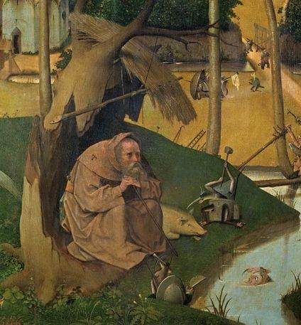 Św. Antoni z obrazu Hieronima Boscha.