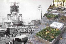 Na budowie Pałacu Kultury i Nauki zginęło 16 radzieckich robotników.