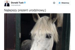 W dniu swoich urodzin premier Donald Tusk ma doskonały humor.