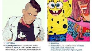 Projektant Jeremy Scott zamieścił ilustracje autorstwa Olki Osadzińskiej na swoim profilu na instagramie i na oficjalnym profilu włoskiej marki Moschino, której jest głównym projektantem.