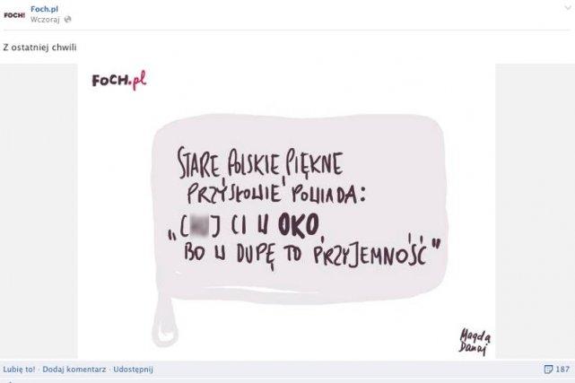 Największym grzechem tego żartu jest to, że nie jest śmieszny – tak grafikę Magdy Dukaj skomentowała dziennikarka Ewa Winnicka