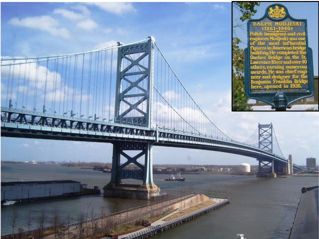 Jedno z najbardziej znanych dzieł syna Heleny Modrzejewskiej - most w Filadelfii.