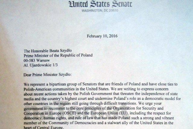 Fragment listu senatorów.