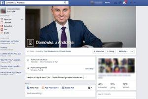"""Domówka u Andrzeja Dudy? Nietypowe """"wydarzenie"""" staje się andrzejkowym hitem na Facebooku"""