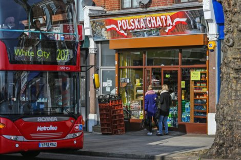 Ealing Broadway, zwana tez polską dzielnicą w Londynie