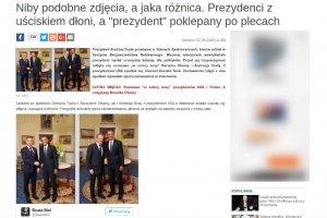 Niezależna.pl przeanalizowała mowę ciała Baracka Obamy i Andrzeja Dudy.