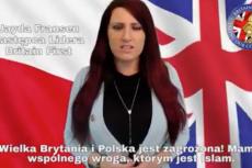 Jayda Fransen z nacjonalistycznej partii Britain First szuka sojuszników w polskich imigrantach.