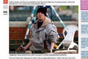 45-letni Brytyjczyk Brian Taylor jest uzależniony od picia benzyny