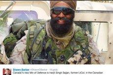 Harjit Sajjan doświadczenie wojskowe zdobywał m.in. w Afganistanie i Bośni