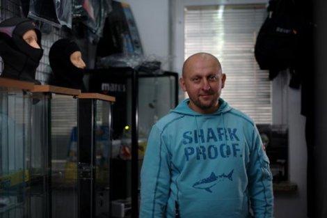Piotr Tokarski w pracy