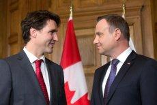 Justin Trudeau i Andrzej Duda rozmawiali o lipcowym szczycie NATO, który odbędzie się w Polsce.