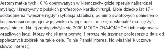 Komentarz pod artykułem z wypowiedzią prof. Maruszewskiego.