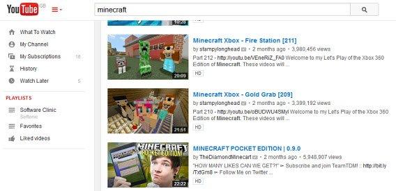 Kanały na YouTubie poświęcone Minecraftowi często mają miliony widzów
