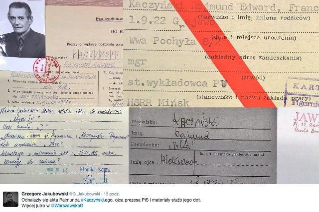 W IPN mają być informacje dotyczące służb bezpieczeństwa PRL i Rajmunda Kaczyńskiego.