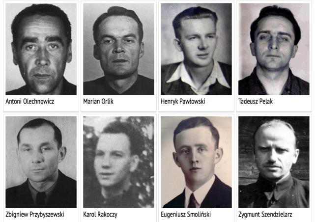 Żołnierze podziemia, których szczątki odnaleziono na tzw. Łączce.