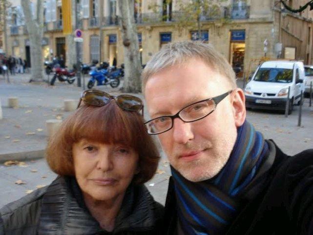 Słitfocia z Hanną Krall, kiedy byliśmy na wspólnym spotkaniu autorskim w Aix-en-Provance. Listopad 2008.<br /><br /><br /><br /><br /><br /><br /><br /><br /><br /><br /> Fot. M. Szczygieł