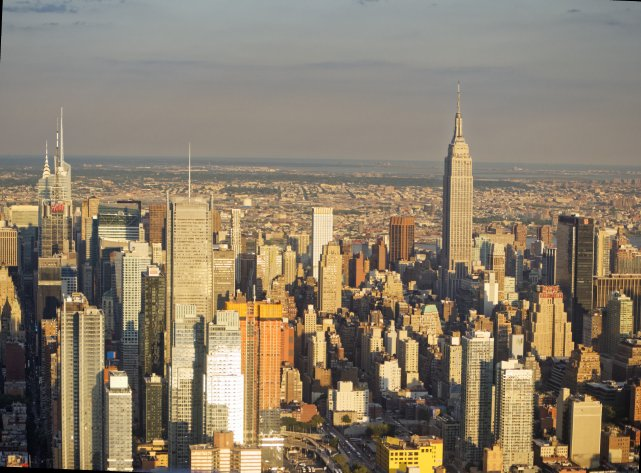 Empire State Building, do niedawna najwyższy w NYC (po 9/11); za trzy lata przerośnie go już siedem innych.