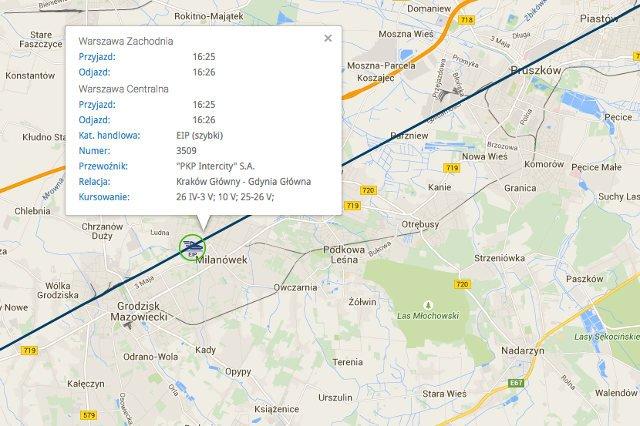 Interaktywna Mapa Pkp Mozna Sprawdzac Aktualne Polozenie Pociagow