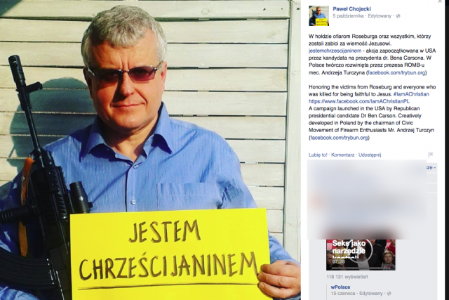 Grupa polskich chrześcijan domaga siędostępu do broni palnej