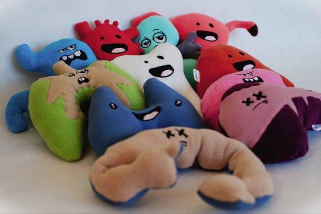 Pluszektorium, czyli zabawki w kształcie organów ludzkich.
