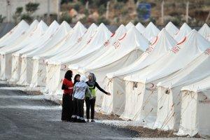 Obóz uchodźczy na granicy syryjsko-tureckiej
